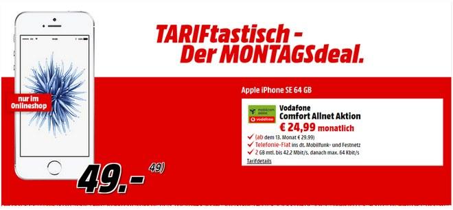 Media Markt TARIFtastisch-Angebot ab 29.8.2016