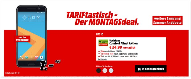 TARIFtastisch Deal im September 2016