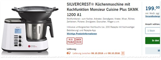 silvercrest k chenmaschine cuisine plus lidl angebot ab. Black Bedroom Furniture Sets. Home Design Ideas