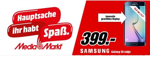 Media Markt Prospekt ab 8.9.2016 mit Samsung Galaxy S6 edge für 399 €
