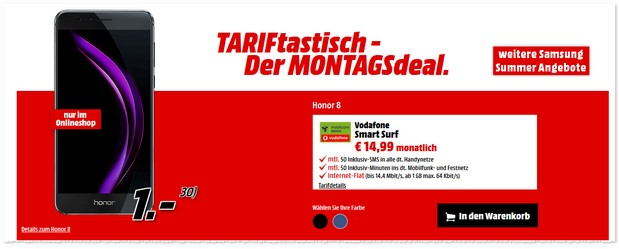 Media Markt TARIFtastisch Deal ab 19.9.2016