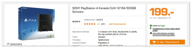 PS4 unter 200 Euro bei Saturn