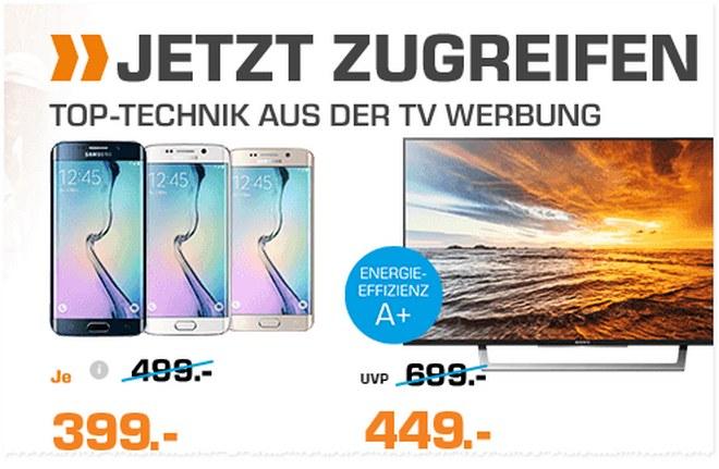 Samsung Galaxy S6 edge aus der Saturn-Werbung ab 24.10.2016 für 399 €