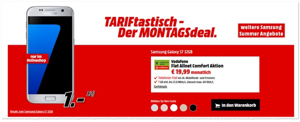 TARIFtastisch Handyvertrag bei Media Markt ab dem 12.9.2016