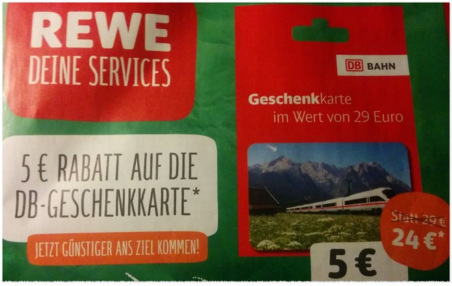 DB-Geschenkkarte bei REWE