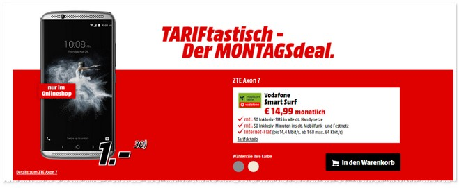 TARIFtastisch-Deal bei Media Markt ab 10.10.2016