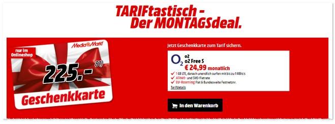 Media Markt TARIFtastisch Montagsdeal ab 17. Oktober 2016