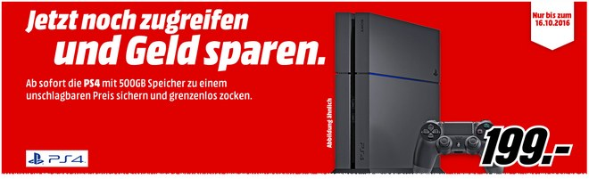 PS4 Slim Preisfehler bei Media Markt für 199 €?