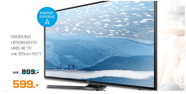 Samsung UE50KU6079 Fernseher als Saturn-Angebot ab 31.10.2016 für 599 €