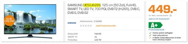 Samsung Fernseher Angebot aus der Saturn TV-Werbung ab 17.11.2016