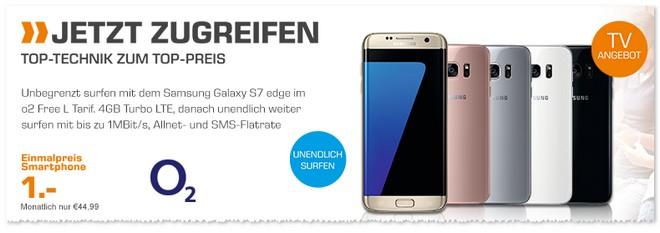 Saturn Montagsangebot ab 17.10.2016: o2 Vertrag mit Samsung Galaxy S7 Edge