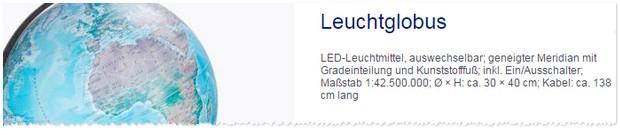 Leuchtglobus