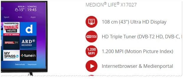 Medion Fernseher