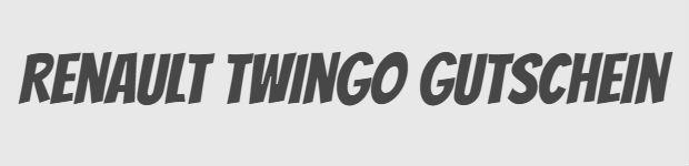 Renault Twingo Gutschein