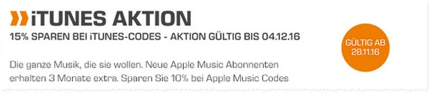 iTunes-Aktion zum Saturn Cyber Monday am 28.11.2016