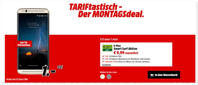 Media Markt TARIFtastisch Deal ab 5.12.2016