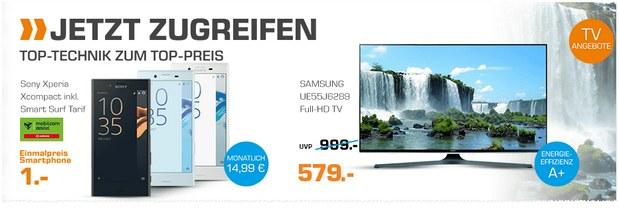 Fernseher Samsung UE55J6289 als Saturn-Angebot ab 7.12.2016 aus der TV-Werbung für 579 €