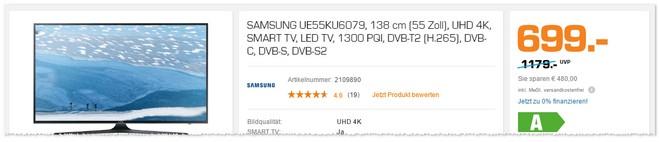 Samsung UE55KU6079 Fernseher bei Saturn