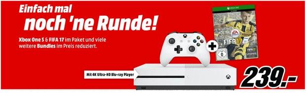Xbox One S (500GB) + FIFA 17 für 239 € bei Media Markt
