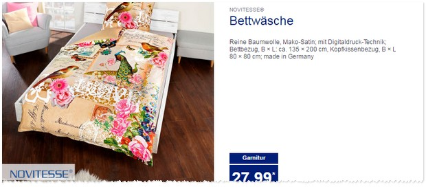 novitesse bettw sche als aldi nord angebot ab 23. Black Bedroom Furniture Sets. Home Design Ideas