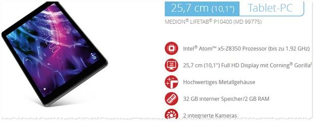 Medion Tablet