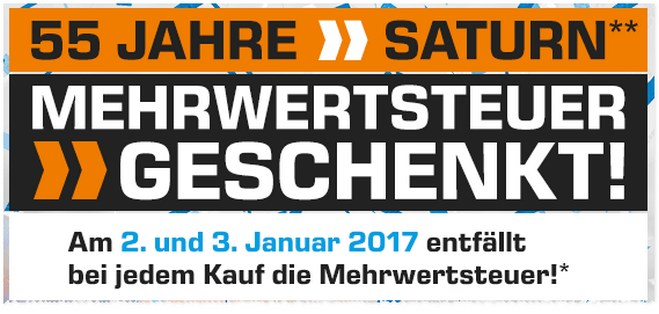 Saturn Neujahrsaktion 2017
