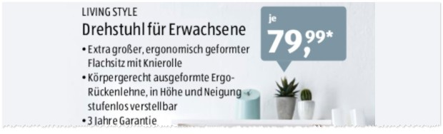 living art drehstuhl als aldi nord angebot ab. Black Bedroom Furniture Sets. Home Design Ideas
