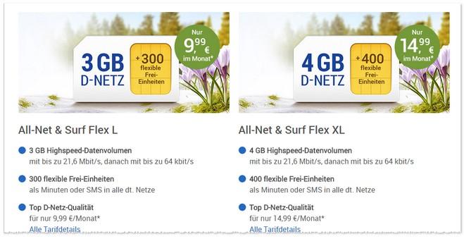 Allnet & Surf XL Flex im Februar 2017