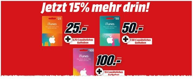 iTunes Karten Rabatt