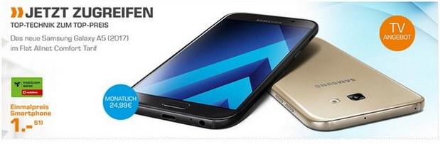 Saturn Montagsangebot ab 6.2.2017: Samsung Galaxy A5 (2017) für 1 €