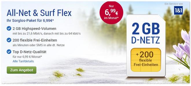 WEB.DE Handytarif als Flex-Vertrag im Februar 2017