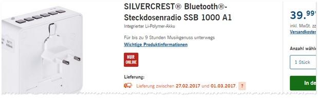 LIDL Steckdosenradio