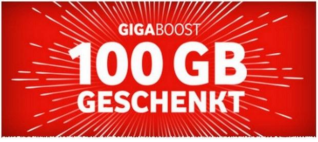 Vodafone Giga Boost: 100 GB gratis LTE-Datenvolumen ab 6.2.2017