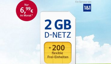 1&1 GMX: 2GB All-Net & Surf für 6,99 Euro