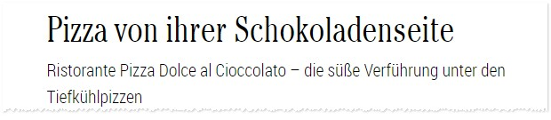 Dr. Oetker Schoko Pizza