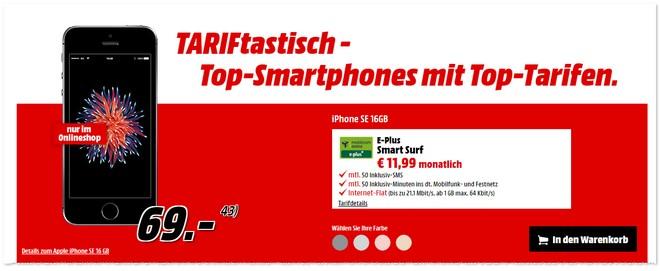 Media Markt TARIFtastisch Deal neu ab 27.3.2017