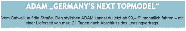 Opel Adam Leasing