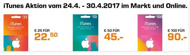 iTunes Karten Rabatt bei Saturn