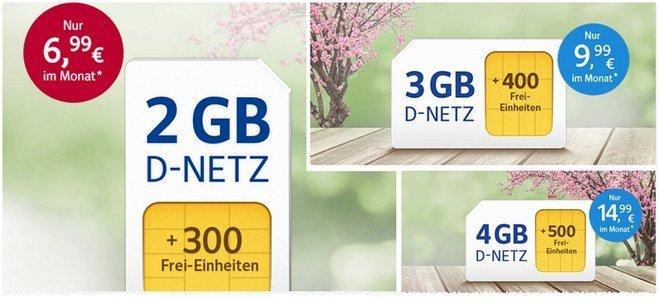 Die neue WEB.DE Handytarif-Aktion bietet 2GB ab 6,99 € - im Mai 2017 mit mehr Frei-SMS