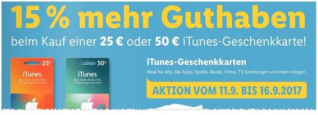 iTunes Karten Rabatt: LIDL