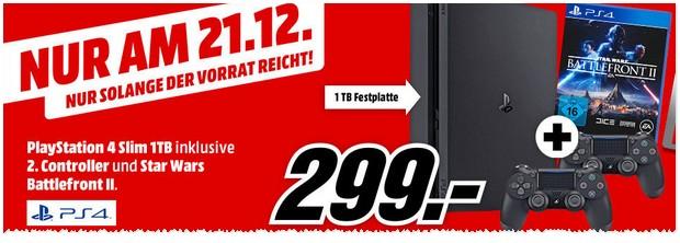 Media Markt Schnapp des Tages: PS 4 Bundle vom 21.12.2017