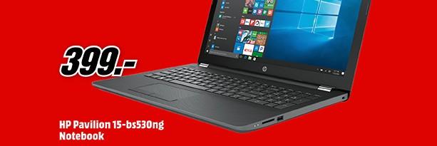 Media Markt Werbung mit HP Notebook