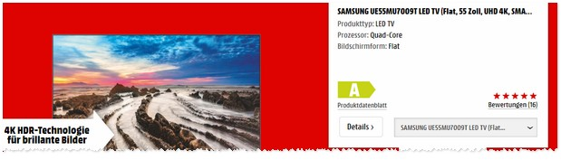 Media Markt Werbung: Samsung Smart-TV