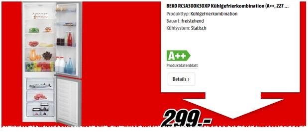 Media Markt Werbung mit Beko Kühlgefrierkombi
